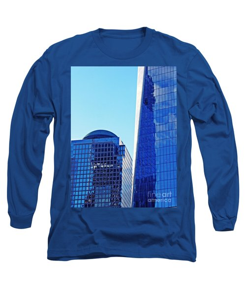 Long Sleeve T-Shirt featuring the photograph Freedom Tower And 2 World Financial Center by Sarah Loft