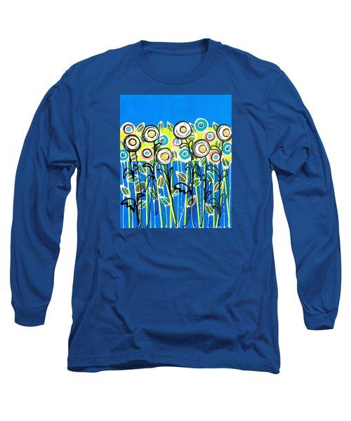 Fresh Blue Flowers Long Sleeve T-Shirt