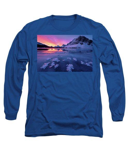 Fresh Ice On Bow Lake Long Sleeve T-Shirt