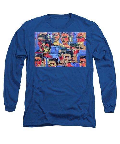 Frida Blue And Orange Long Sleeve T-Shirt