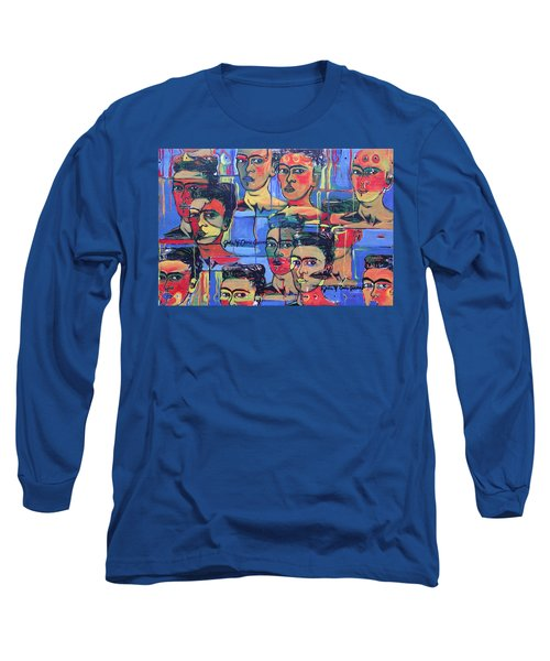 Frida Blue And Orange Long Sleeve T-Shirt
