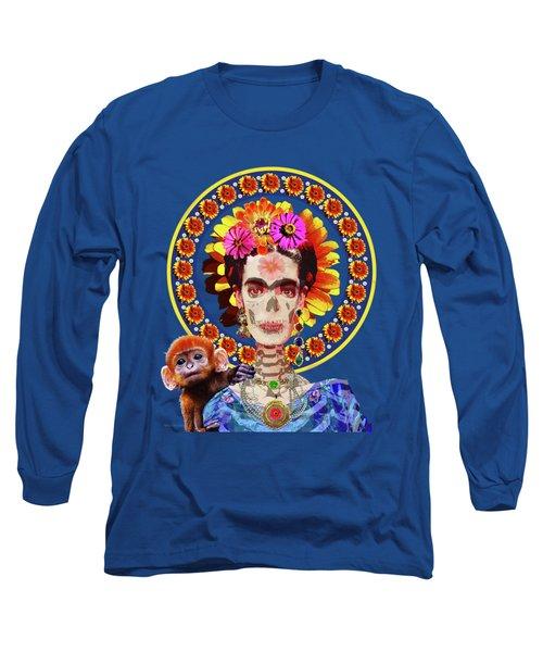 Frida De Muertos Long Sleeve T-Shirt