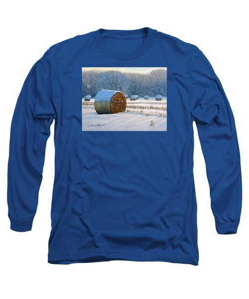 Frigid Morning Bales Long Sleeve T-Shirt