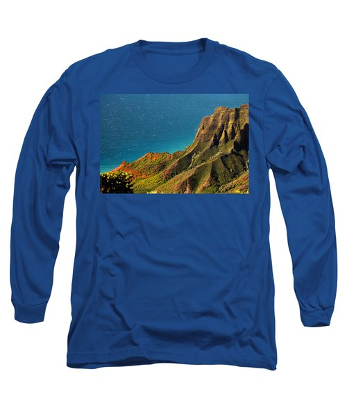 Long Sleeve T-Shirt featuring the photograph From The Hills Of Kauai by Debbie Karnes