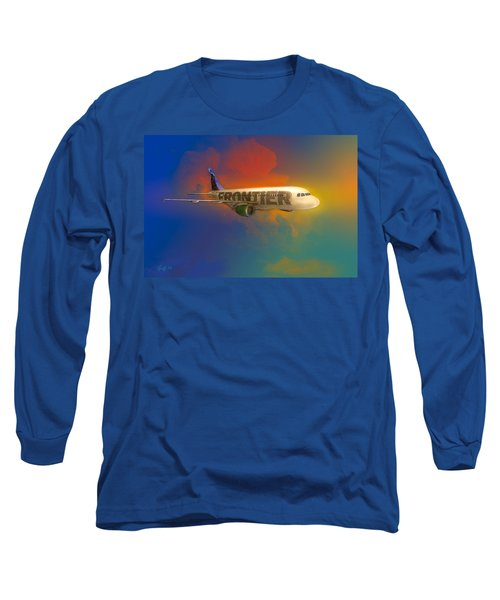 Frontier Airbus A-319 Long Sleeve T-Shirt by J Griff Griffin