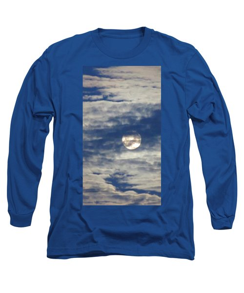 Full Moon In Gemini With Clouds Long Sleeve T-Shirt