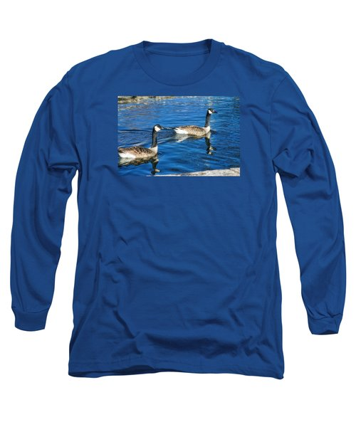 Long Sleeve T-Shirt featuring the photograph Geese by Joan Bertucci