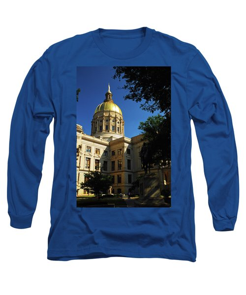 Georgia State Capitol Long Sleeve T-Shirt by James Kirkikis