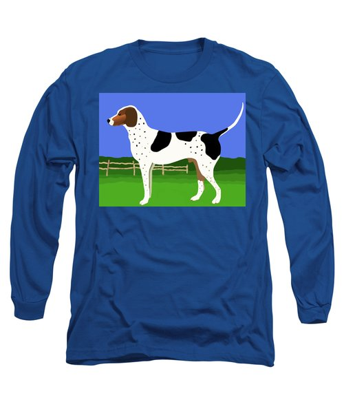 Long Sleeve T-Shirt featuring the painting German Shorthaired Pointer In A Field by Marian Cates