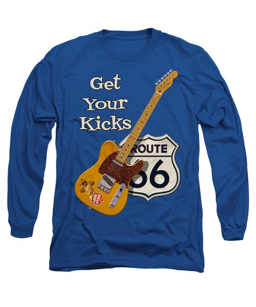 Get Your Kicks Long Sleeve T-Shirt by WB Johnston