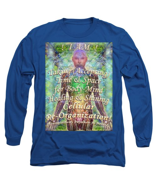 Long Sleeve T-Shirt featuring the digital art Getting Super Chart For Affirmation Visualization V3u by Christopher Pringer