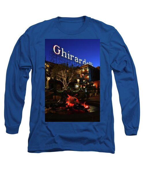 Ghirardelli Square Long Sleeve T-Shirt by James Kirkikis