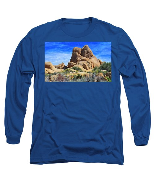 Ghost Rock - Joshua Tree National Park Long Sleeve T-Shirt by Glenn McCarthy Art and Photography