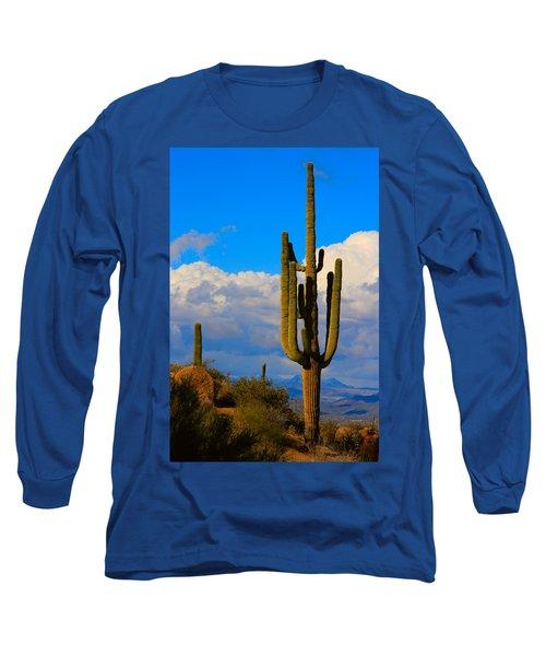 Giant Saguaro In The Southwest Desert  Long Sleeve T-Shirt