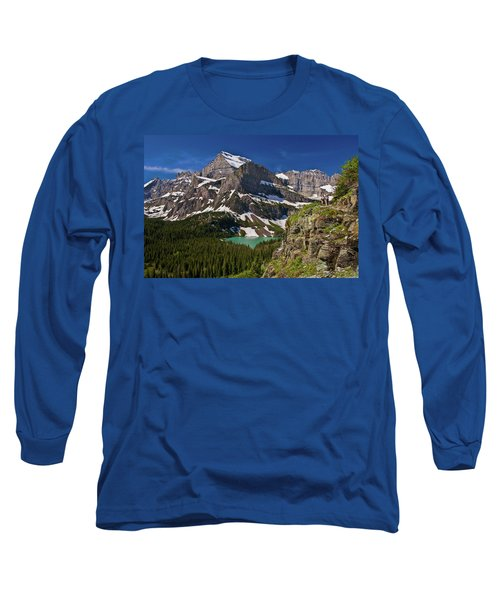 Long Sleeve T-Shirt featuring the photograph Glacier Backcountry 2 by Gary Lengyel