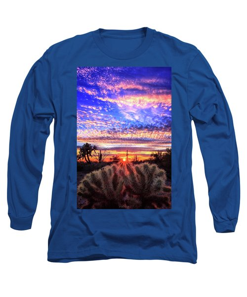 Glimmering Skies Long Sleeve T-Shirt by Rick Furmanek