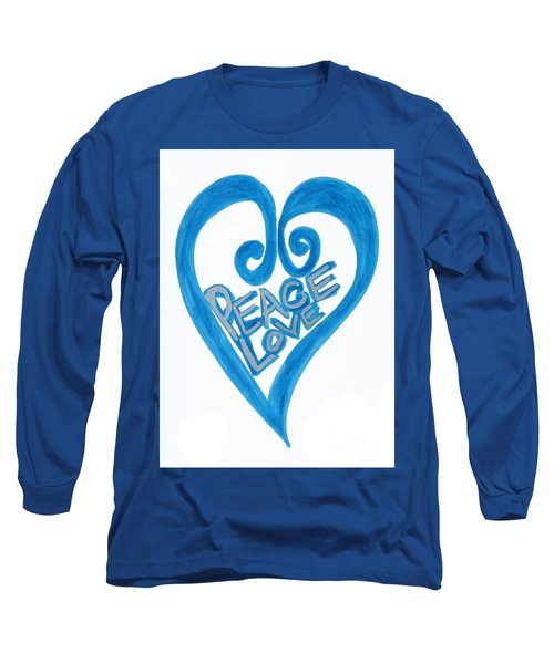 Global Peace And Love Heart Long Sleeve T-Shirt