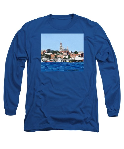 Gloucester City Hall From Inner Harbor Long Sleeve T-Shirt