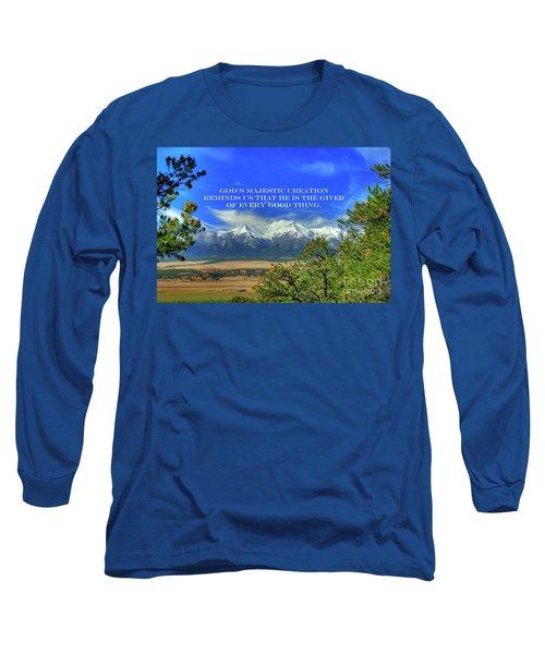 God's Majestic Creation Long Sleeve T-Shirt