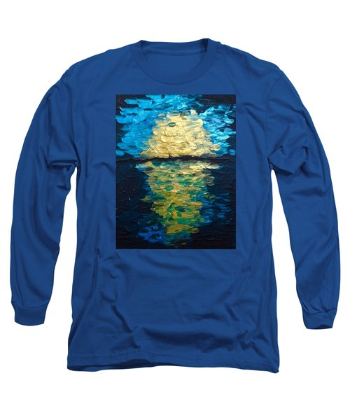 Golden Moon Reflection Long Sleeve T-Shirt