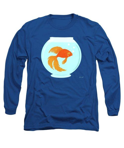 Goldfish Fishbowl Long Sleeve T-Shirt by Little Bunny Sunshine