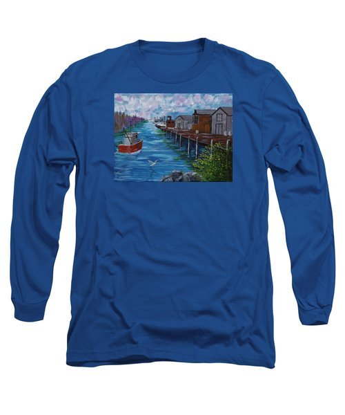 Good Day Fishing Long Sleeve T-Shirt by Mike Caitham