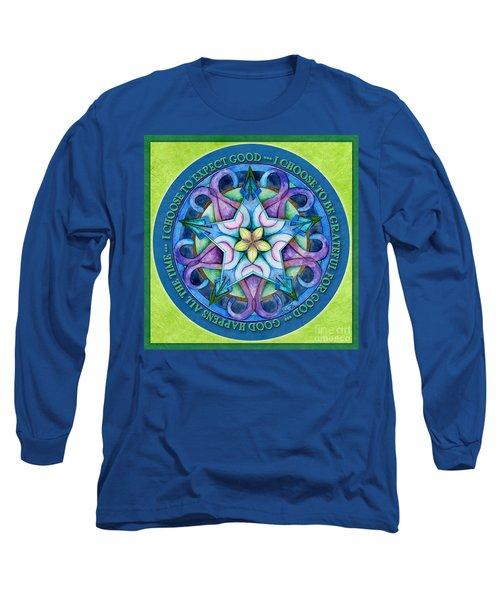 Good Happens Mandala Prayer Long Sleeve T-Shirt