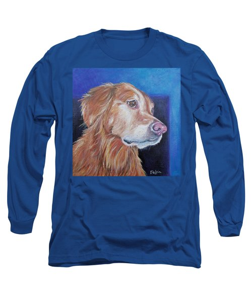 Long Sleeve T-Shirt featuring the painting Gracie by Susan DeLain