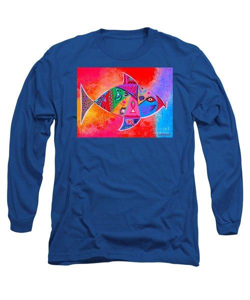 Graffiti Fish Long Sleeve T-Shirt