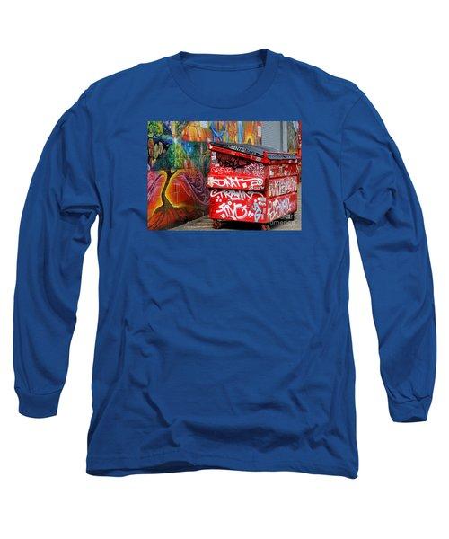 Grafitti And Trash Long Sleeve T-Shirt by Ranjini Kandasamy