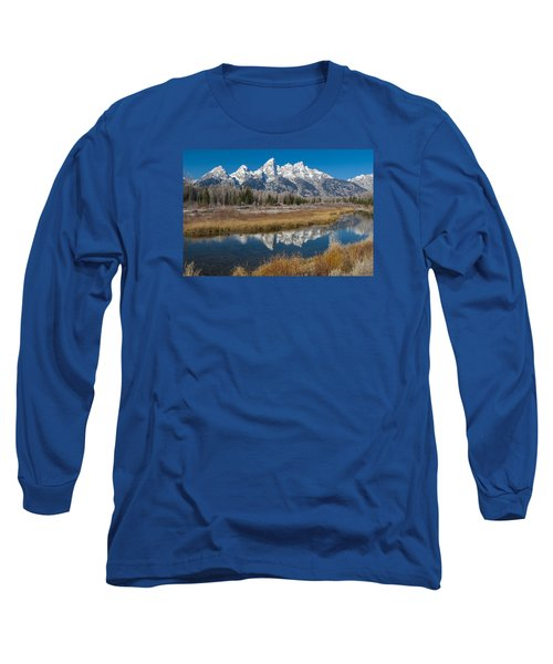 Long Sleeve T-Shirt featuring the photograph Grand Tetons by Gary Lengyel