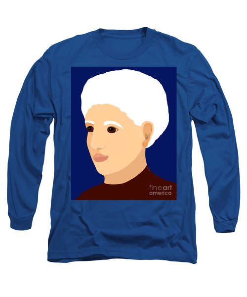 Long Sleeve T-Shirt featuring the painting Grandmother by Marian Cates