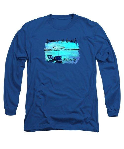 Graphic Art Summer And Beach Long Sleeve T-Shirt