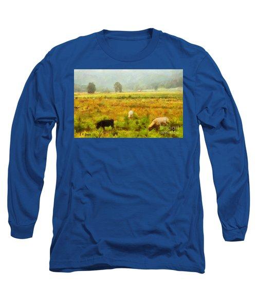 Grazing Long Sleeve T-Shirt by Elizabeth Coats