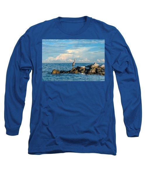 Great Blue Heron World Long Sleeve T-Shirt