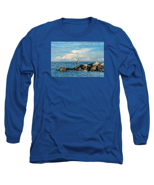 Great Blue Heron World Long Sleeve T-Shirt