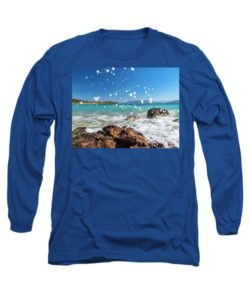 Greek Surf Spray Long Sleeve T-Shirt