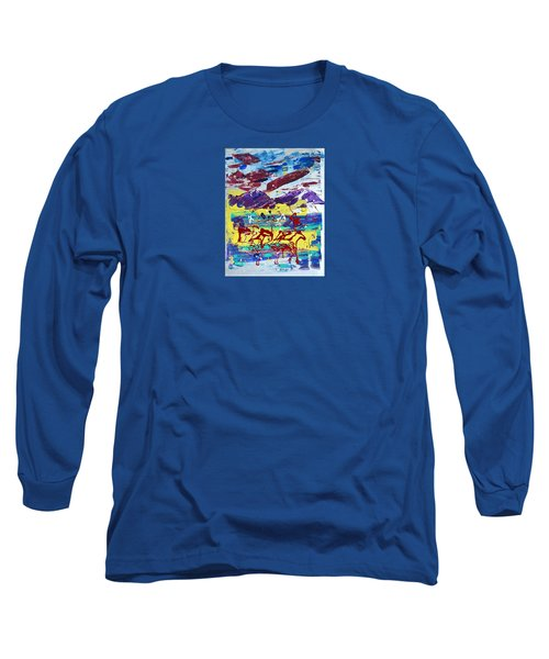 Green Pastures And Purple Mountains Long Sleeve T-Shirt