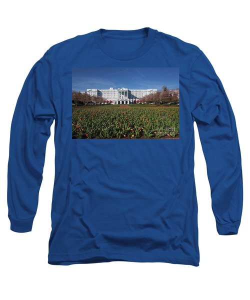 Long Sleeve T-Shirt featuring the photograph Greenbrier Resort by Laurinda Bowling