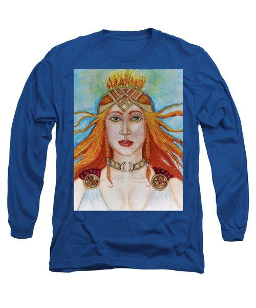 Brigidd Of The Sacred Flame Long Sleeve T-Shirt