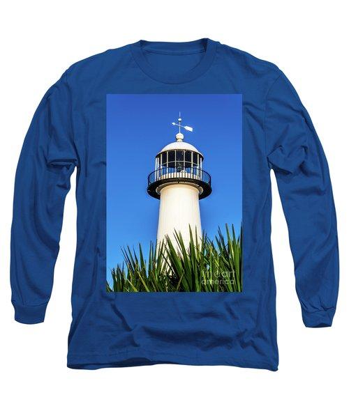 Gulf Coast Lighthouse Seascape Biloxi Ms 3819a Long Sleeve T-Shirt