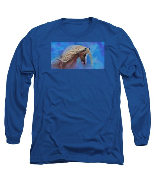 Gypsy In The Wind Long Sleeve T-Shirt by Karen Kennedy Chatham