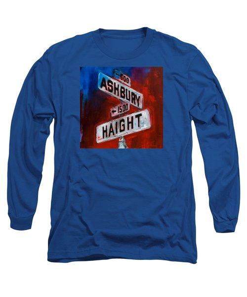 Haight And Ashbury Long Sleeve T-Shirt by Elise Palmigiani