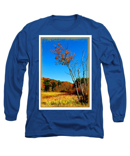 Long Sleeve T-Shirt featuring the photograph Hanging On To Autumn by Joan  Minchak