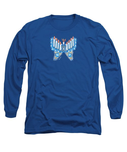 Hanukkah Butterfly Long Sleeve T-Shirt