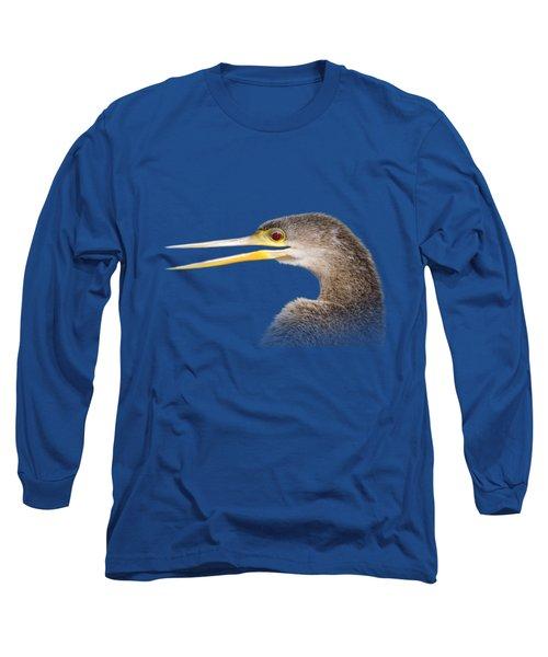Happy Anhinga Long Sleeve T-Shirt