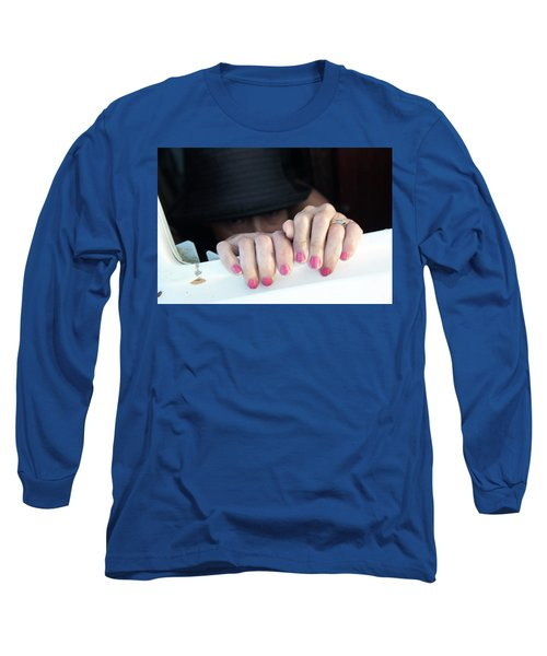 Long Sleeve T-Shirt featuring the pyrography Happy Days by Michael Lucarelli