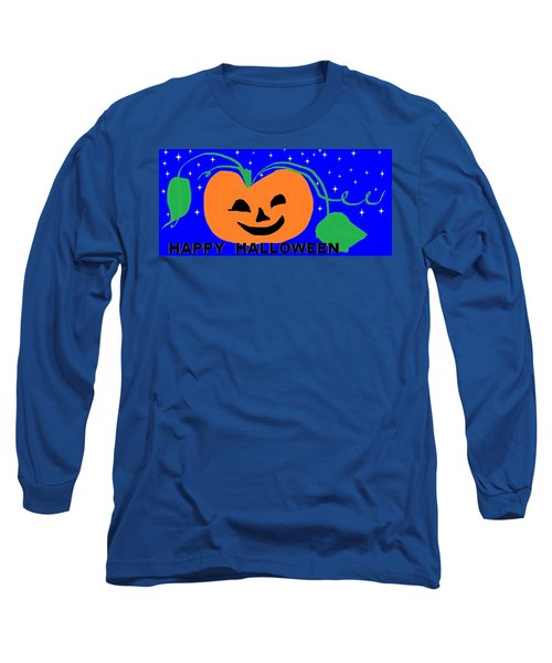 Happy Halloween 1 Long Sleeve T-Shirt by Linda Velasquez