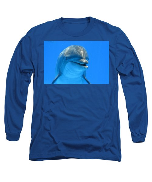Happy Smiling Dolphin Long Sleeve T-Shirt by Richard Bryce and Family
