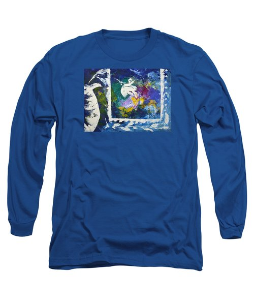 Happy To Be Inside Long Sleeve T-Shirt by Lynda Cookson